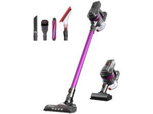 Dibea E19Pro Lightweight Vacuum Cleaner Cordless 17Kpa Powerful Suction Bagless Rechargeable 2 in 1 Handheld Car Vacuum with Motorized Brush, Purple (Send from US)