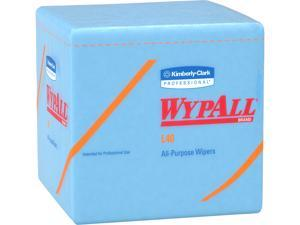 WypAll L40 Disposable Cleaning and Drying Towels (05776), Limited Use Towels, Blue, 12 Packs per Case, 56 Sheets per Pack, 672 Sheets Total