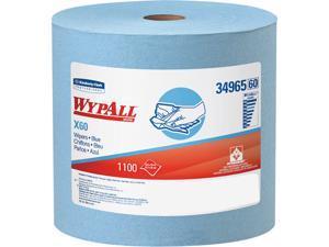 WypAll* X60 Wipers Jumbo Roll 12 1/2 x 13 2/5 Blue 1100/Roll 34965