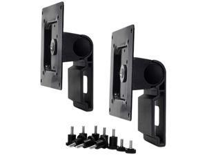 Ergotron 98-062-200 Dual Monitor Tilt Pivot Kit - Mounting Kit (2 Pivots, 2 Calbe Ties, Screws) For 2 Monitors - Black
