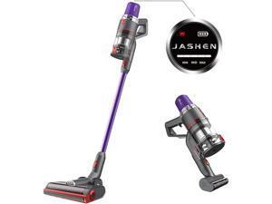 JASHEN V16 Cordless Stick Vacuum Cleaner, Cordless Stick Vacuum with LED Panel, Stick Vacuum Cleaner for Hardwood Floors, Carpet / Rug, Pet Hair, Purple