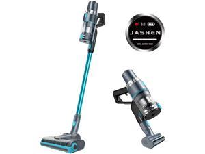 JASHEN V18 Cordless Stick Vacuum Cleaner, Cordless Stick Vacuum with LED Panel, Stick Vacuum Cleaner for Hardwood Floors, Carpet/Rug, Pet Hair, Lake Blue