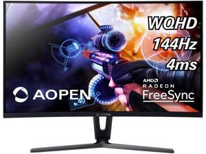 "Aopen Gaming Series  32HC1QUR 32""(31.5"" viewable) Black VA Curved 1800R Freesync 144Hz LED Monitor 2560 x 1440 Widescreen 16:9 4ms Response Time 250 cd/m2 1000:1 DVI, HDMI, DisplayPort"