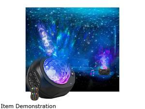Star Projector Night Lights, 3 in 1 Galaxy Projector Light, Sky Nebula/Moving Ocean Wave, Best Gift for Kids Adults for Bedroom/Party with Hi-Fi Stereo Bluetooth Speaker, Voice&Remote Control