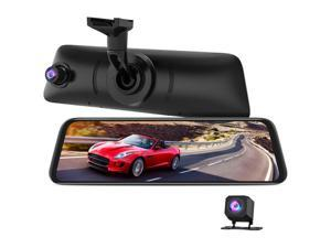 """AUTO-VOX V5PRO Anti-Glare Rear View Mirror Dash Cam Front and Rear 1080P Dash Camera for Cars 9.35"""" Full Laminated Touch Screen and Super Night Vision with Sony Sensor, GPS Tracking"""