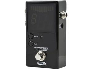 Monoprice Chromatic Pedal Tuner - Black With Normal & Bypass Outputs, Easy to Tune Your Bass and Guitars - Stage Right Series