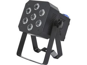 Monoprice Super-Bright PAR Stage Light (RGBAW-UV) 12 Watt, x 7 LED, Built-in Program Abilities, such as Fade, Strobe, Color Changing