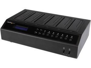 StarTech.com SATDOCK5U3ER USB 3.0 / eSATA 6-Bay SATA Hard Drive Duplicator Dock - 1:5 HDD / SSD Cloner and Eraser - 2.5/3.5in HDD Docking Station