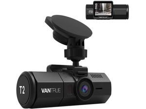 Vantrue T2 24/7 Surveillance Super Capacitor Dash Cam 1920x1080P OBD Car Camera 2.0'' LCD 160° Dashboard Camera Recorder w/Night Vision, Sony Sensor, Wave Guard Parking Monitor, Support 256GB max