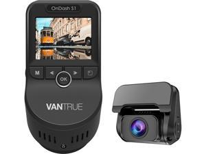 Vantrue S1 Dual 1080P FHD Dash Cam Front and Rear Super Capacitor Dash Camera 2 inch LCD 2880x2160P Single Front Discreet Car Camera with Built in GPS, LLL Night Vision, Parking Mode, Support 256G MAX