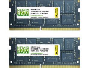 64GB (2 x 32GB) DDR4-2933 PC4-23400 SODIMM Laptop Memory by Nemix Ram