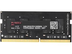 PUSKILL DDR4 2400 MHz SODIMM RAM PC4-19200 8G 1.2V CL17 260-Pin Support ECC Unbuffered Laptop Memory Notebook RAM Module for Mac Intel and AMD System