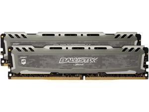 Ballistix Sport LT 16GB Kit (8GBx2) DDR4 3000 MT/s (PC4-24000) SR x8 DIMM 288-Pin Memory - BLS2K8G4D30BESBK (Gray)