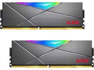 XPG SPECTRIX D50 RGB Desktop Memory: 32GB (2x16GB) 288-Pin DDR4 3200MHz (PC4-25600) CL16 GREY