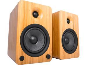 Kanto YU6 Powered Speakers with Bluetooth® and Phono Preamp, Bamboo