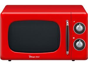 Magic Chef 0.7-Cu. Ft. 700W Retro Countertop Microwave Oven, Red MCD770CR