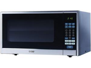 Commercial Chef CHCM11100SSB 1.1 cu.ft. 1000 watt Stainless Steel Microwave Oven Front with Cabinet, Black & Silver