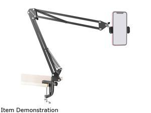 Neewer Table Top Articulating Scissor Arm Stand 360 Rotation Overhead Video Stand Phone Mount Stand with Phone Clamp for Baking Crafting Demo Drawing Sketching Record, Live Streaming, Online Teaching