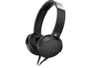 Sony Extra Bass On-Ear Headphones with 30mm drivers, Powerful Music, Comfort Ear Pads, Mic and Remote for Apple and Android Smartphones, Black, MDRXB550AP/B