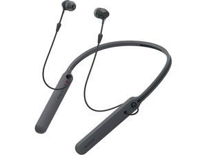 Sony C400 Wireless Behind-the-Neck In-Ear Earbuds Headphones Bluetooth Wireless Stereo Neckband Headset with Built-In Remote and Microphone, Black