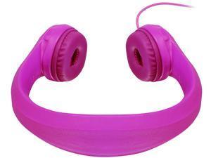 Aluratek AKH01FP Volume-Limiting Wired Foam Headphones - Pink