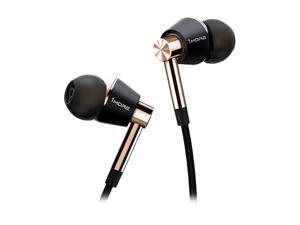 1MORE Triple Driver in-Ear Earphones Hi-Res Headphones with High Resolution, Bass Driven Sound, MEMS Mic, in-Line Remote, High Fidelity for Smartphones/PC/Tablet- Gold