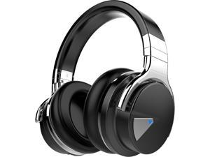COWIN E7 Wireless Over-Ear Active Noise Cancelling Headphones with Microphone - Black