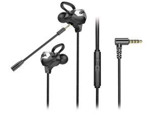 Lpyoo Gaming Earbuds with Microphone Noise Isolating in-Ear E-Sport Wired Earbud Pure Sound and Powerful Bass, Earphones Headset with Mic and Volume Control for Mac, PC, Mobile Phone with 3.5mm