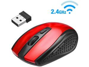 FirstPower 2.4GHz Wireless Optical Mouse Mice & USB Receiver For PC Laptop Computer DPI Red