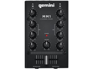Gemini MM1 2-Channel Analog Mini DJ Audio Mixer