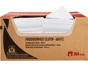 WypAll X50 Extended Use Foodservice Towels Reusable Cloths (06053), Quarterfold, White, 1 Box, 200 Sheets