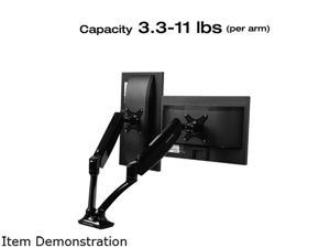Loctek Desk Mount Full-motion Monitor Arm 10 to 27-inch Dual-arm Monitor Mount