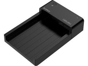 """ORICO Tool-Free USB 3.0 & eSATA to 2.5in or 3.5in SATA External Hard Disk Drive Enclosure HDD SSD Unique Lay-Flat Docking Station for 2.5"""" 3.5"""" HDD / SSD - eSATA or USB 3.0 with UASP  -Black"""
