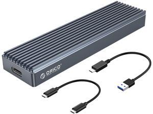 ORICO M.2 NVMe SSD Case USB 3.1 GEN 2 Aluminum Heatsink Enclosure for NVMe PCIE M Key/M+B Key SSD USB-C 10Gbps Support Up to 2TB M2PJ-Gray