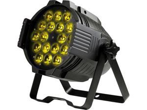 Monoprice Stage Wash PAR Stage Light (RGBWA-UV)   18 Watt, x 18 LED, 6-channel and 10-channel DMX modes - Stage Right Series