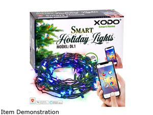 Xodo Outdoor String Lights 35 ft. 100 LEDs, Dream Color Christmas Lights with APP, Waterproof Color Changing LED String Lights for Wedding Party