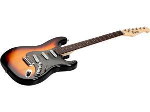 Monoprice Indio Cali Classic Electric Guitar - Sunburst, With Gig Bag