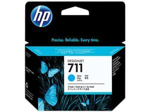 HP 711 Ink Cartridge - Triple Pack - Cyan