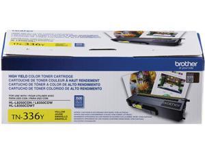 Brother International - TN336Y - Brother Genuine TN336Y High Yield Yellow Toner Cartridge - Laser - High Yield - 3500
