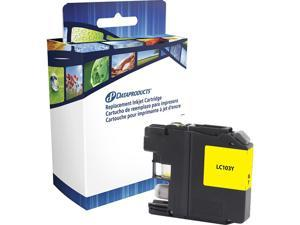 Dataproducts DPCLC103YCA Ink Cartridge (OEM# Brother LC103Y) 600 Page Yeild; Yellow