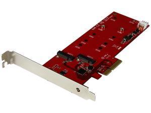 StarTech.com PEX2M2 2x M.2 SATA SSD Controller Card - PCIe - PCI Express M.2 SATA III Controller - NGFF Card Adapter