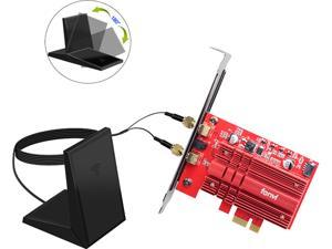 Fenvi FV-2030T Wireless Dual Band AC2030 PCI Express Intel 9260 Wifi Adapter For Desktop PC, 1730Mbps (5GHz) + 300Mbps (2.4GHz), Bluetooth 5.0, IEEE 802.11ac, Windows 10, Support MU-MIMO, 9260NGW Card