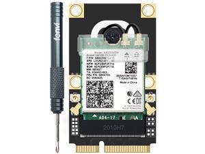 Mini PCI-E Wi-Fi 6 Intel AX200 Adapter Kit 2974Mbps Bluetooth 5.0 M.2 To Mini PCI Express Full Wifi Wireless Card AX200NGW 802.11ax/ac 160Mhz 2.4G/5G MU-MIMO OFDMA Windows 10 For Laptop Desktop