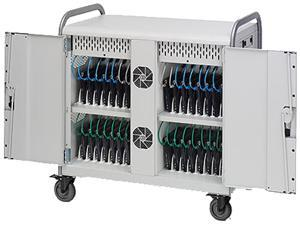 Bretford Manufacturing MDMLAP32NR-90D 32 Laptop Network Ready Cart Outlets Turned 90 Degrees
