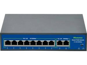 8-POE Port w/ 2 Uplink Gigabit Ports Rackmount Smart Managed Plus Switch, 120w 8 x PoE (JGS516PE)