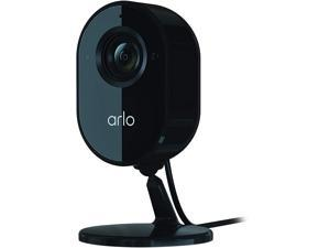 Arlo Essential Indoor Camera - 1080p Video with Privacy Shield, Plug-in, Night Vision, 2-Way Audio, Siren, Direct to WiFi No Hub Needed, Wireless Security, Works with Alexa, Black - VMC2040B