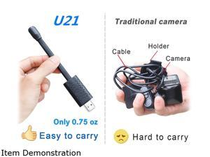 Smallest Spy Camera Wireless Hidden WiFi,Portable USB IP HD Nanny Camera with AI Human Motion Detection,Cloud Storage,Live Feed Streaming,Remote Viewing for Security on iOS,Android Phone APP U21