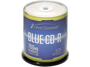 Optical Quantum 700MB 52X CD-R Logo Top 100 Packs Disc Model OQCD52BLT-BX