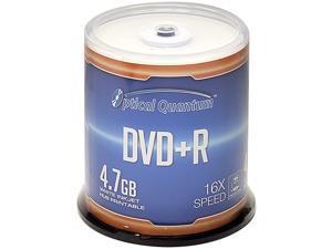 Optical Quantum 4.7GB 16X DVD+R White Inkjet Printable 100 Packs Spindle Disc Model OQDPR16WIPH-BX
