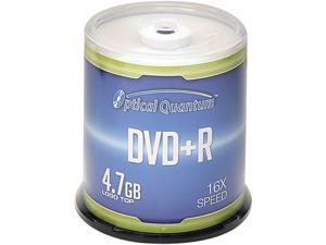 Optical Quantum 4.7GB 16X DVD+R Logo Top 100 Packs Spindle Disc Model OQDPR16LT-BX